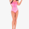 Pink Velvet Backbone Leotard