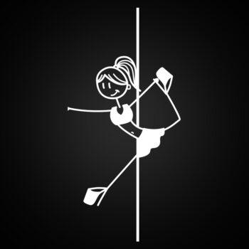 """Ballerina"" Pole Sticker for car window, laptop, ipad case"