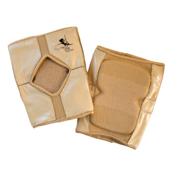 Sticky back knee pads for pole dancing – Nude / Tan