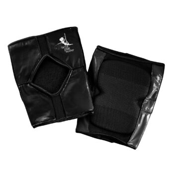 Sticky back knee pads for pole dancing – Black Short Style