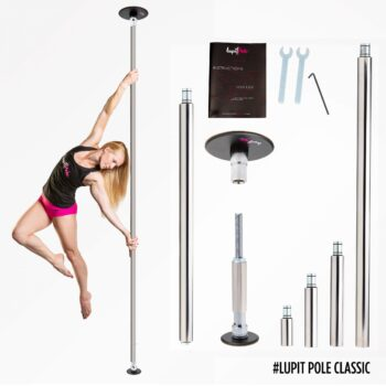 Lupit Pole Portable Home Pole Generation 2 Spin and Static