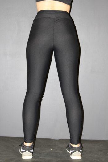 Matte Black Full Length Tights Legging