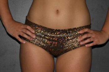 Gold Shattered Naughty Fit Shorts