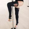 Thigh High Leg Warmers Black