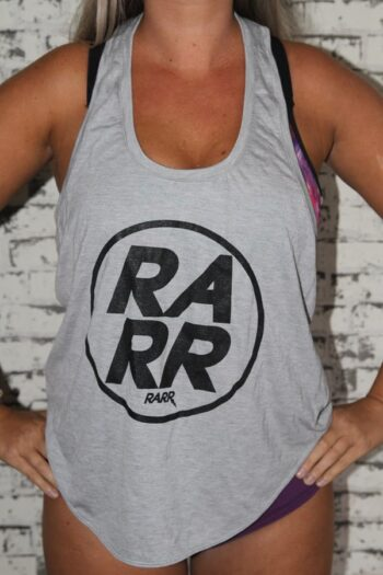 RARR GREY MARLE Twist Back Tank
