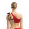 Asymmetric bikini top RED/NUDE 01