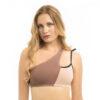 Asymmetric bikini top POWDER 00/NUDE 02
