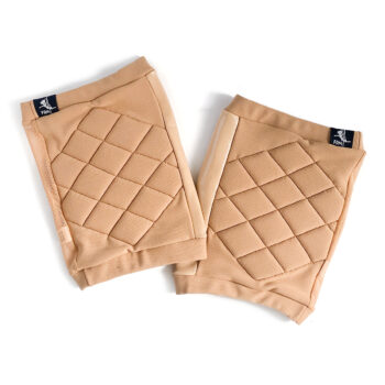 Quilted knee pads with sticky side panel for pole dancing – Nude