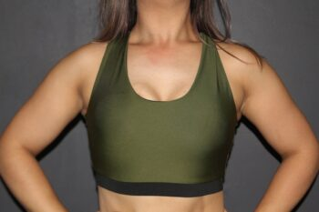 Olive Racer Back Sports Bra