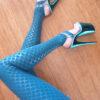 Teal Mermaid Sticky Pole Legging