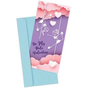 """Be My Pole Valentine"" Pole Dancer Greeting Card"