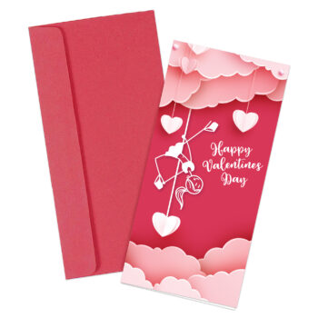 """""""Happy Valentines Day"""" Pole Dancer Greeting Card"""