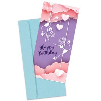 Pole Dancer Birthday Card (Blue)